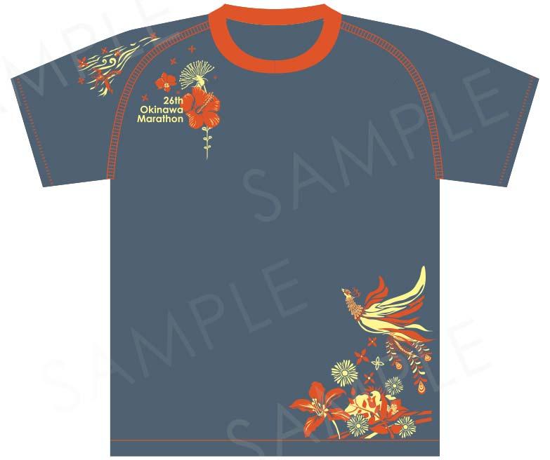 26thおきなわマラソンTシャツデザイン事例